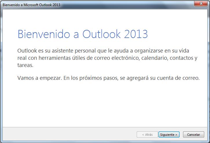 Outlook Bienvenido